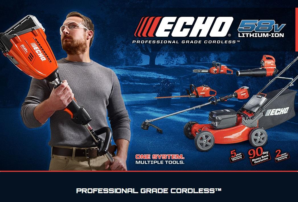 New Echo 58 Volt Cordless Outdoor Power Equipment Line
