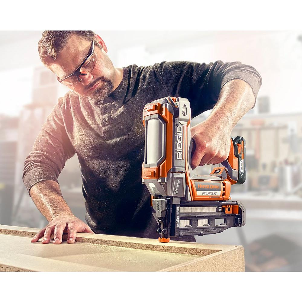 new ridgid hyper drive brushless 18v nailers