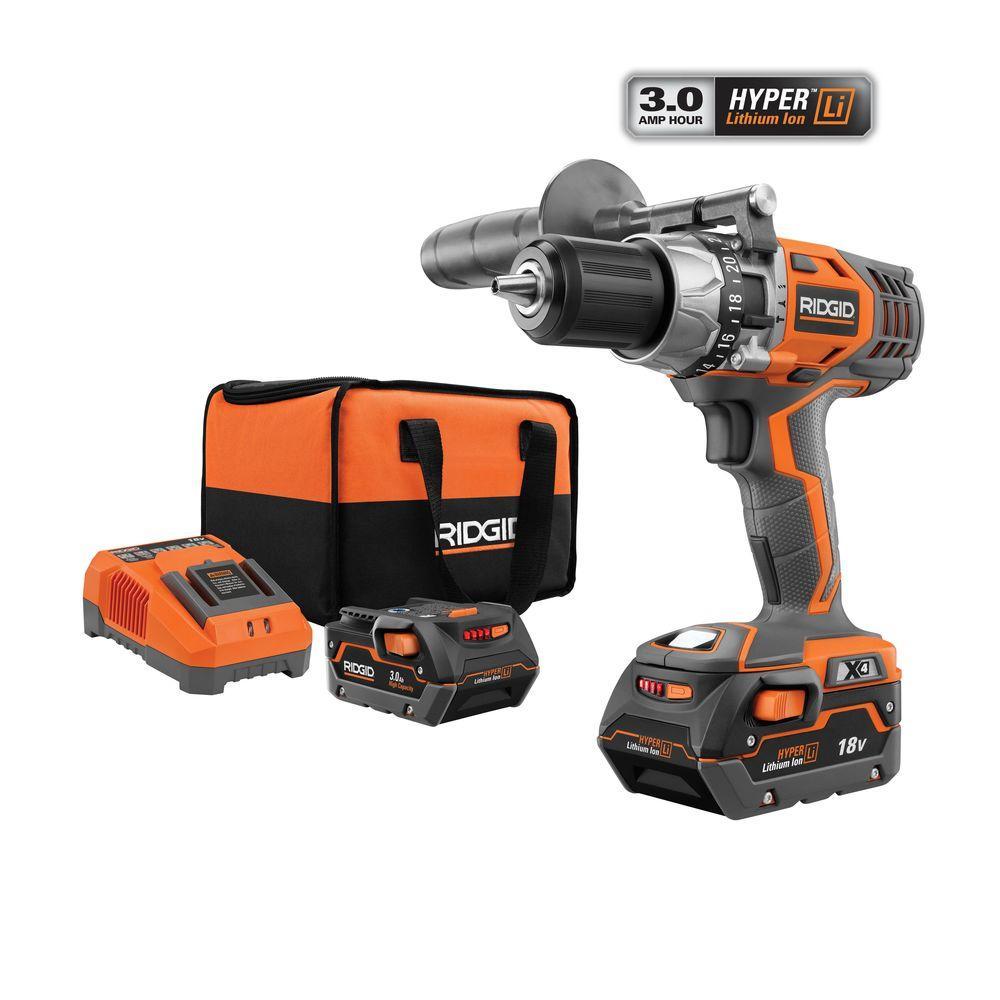 Tool Deal Ridgid X4 18v Hammer Drill Kit R8611501k 13950