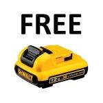 Free DeWalt 12V Max 2.0 Battery with Dewalt 12V Max Tool