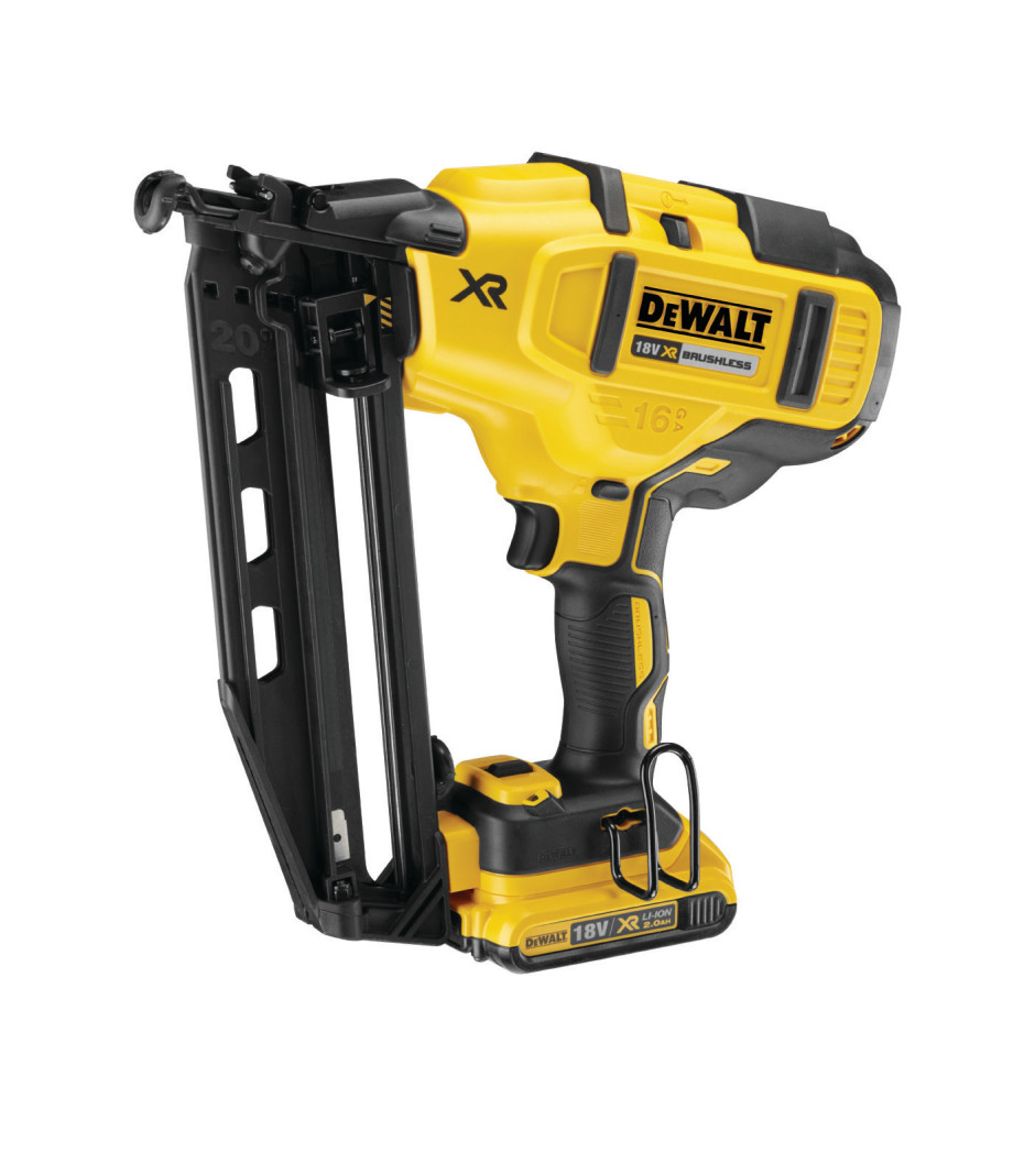 Dewalt brushless 20v max 16 gauge nailer dcn660 tool craze for Dewalt 20v brushless motor