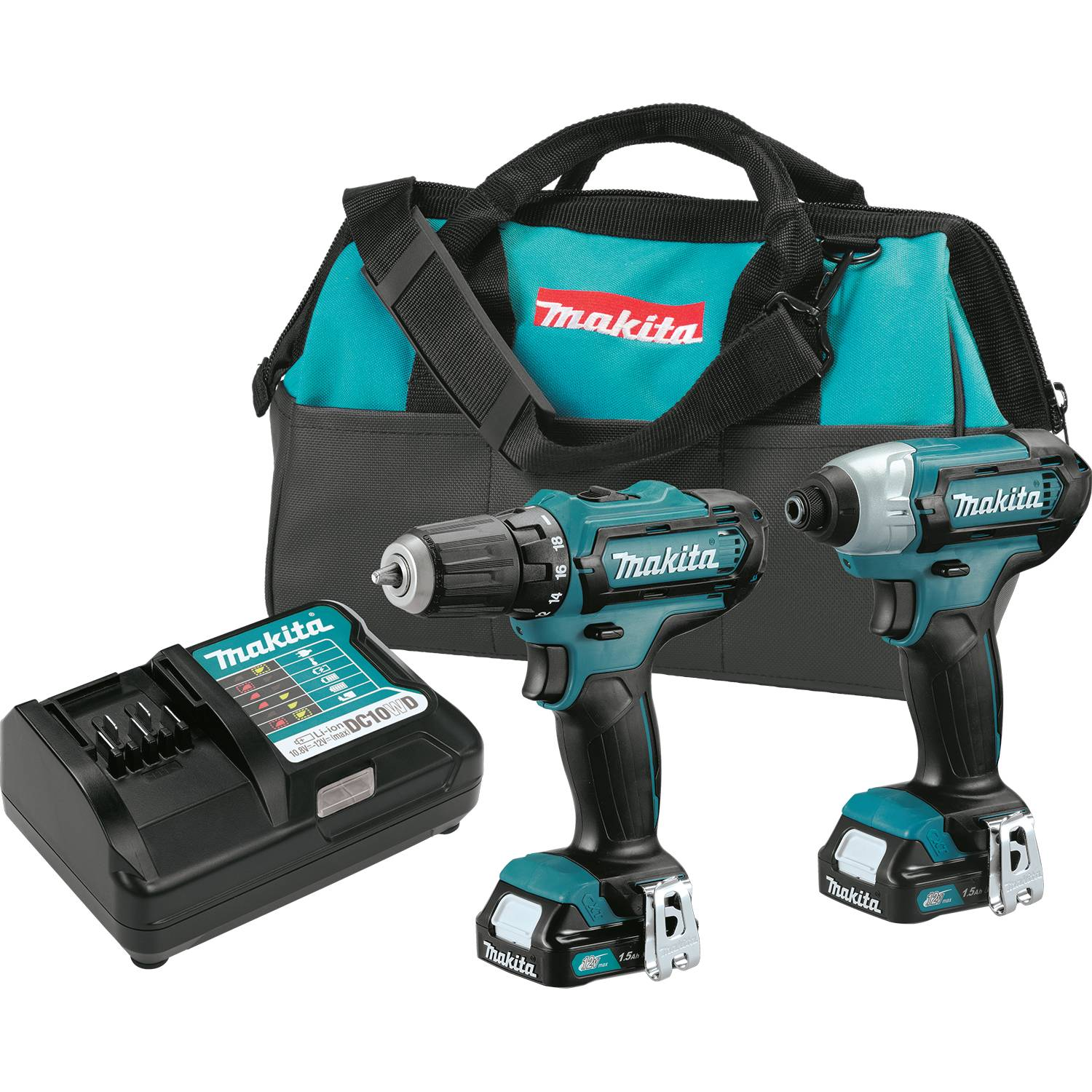 new makita 12v drill and impact driver with slide pack batteries now available tool craze. Black Bedroom Furniture Sets. Home Design Ideas