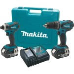 Today only Deal – Makita 2 pc 18V Combo Kit w/ 2x 4.0 batteries $199