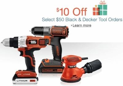 Deal – $10 off $50 Black & Decker order