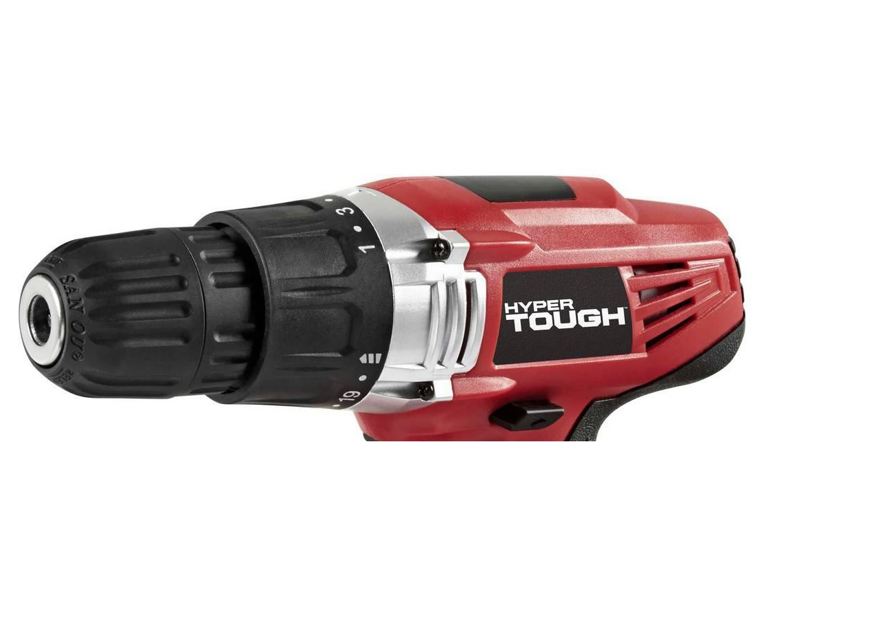 walmart drill. hyper tough 18v drill close up walmart m