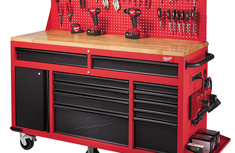 New Milwaukee 30″ Steel Storage Chest and Cabinet & 60″ Mobile Work Station