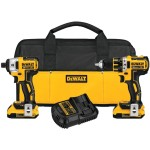 Deal – Dewalt 20V Brushless Compact Drill and Impact Driver Combo kit DCK281D2 – $200