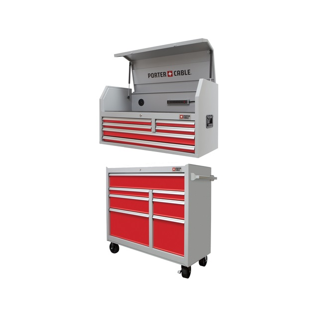new steel tool chest and cabinet from porter cable - tool craze