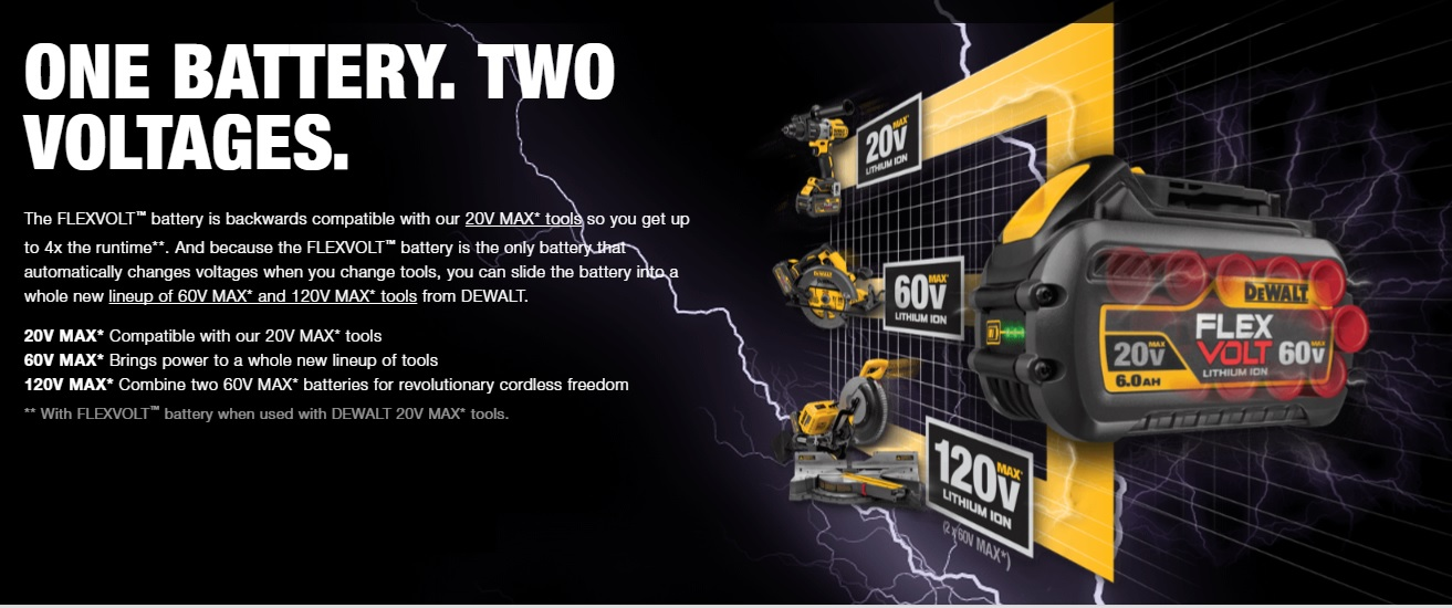 New Dewalt FLEXVOLT 60V & 120V Max Power Tools - Tool Craze