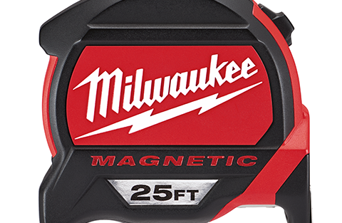 New Milwaukee Magnetic Tape Measures With Finger Stop