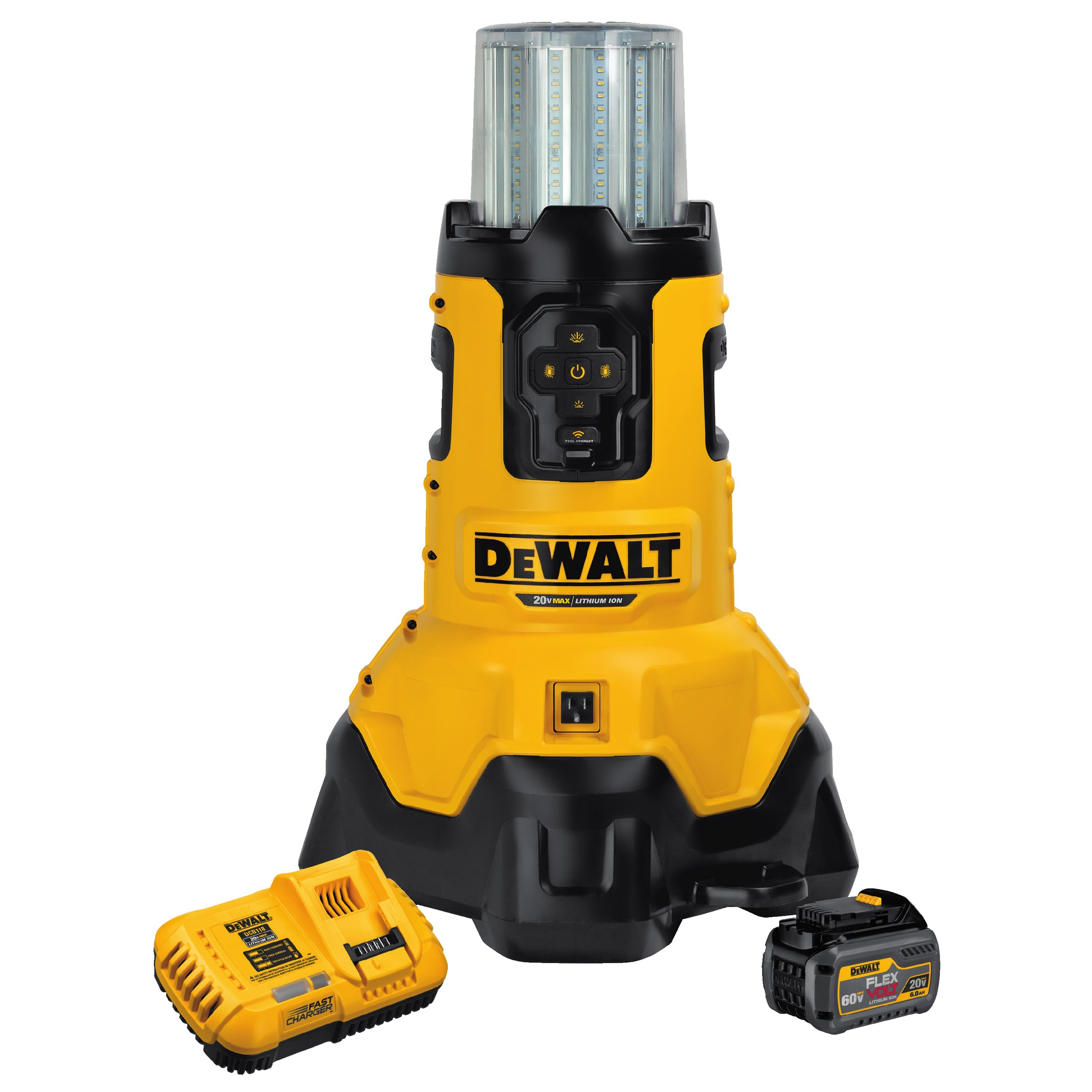 2 New Dewalt Flexvolt Tools Bluetooth Led Large Area