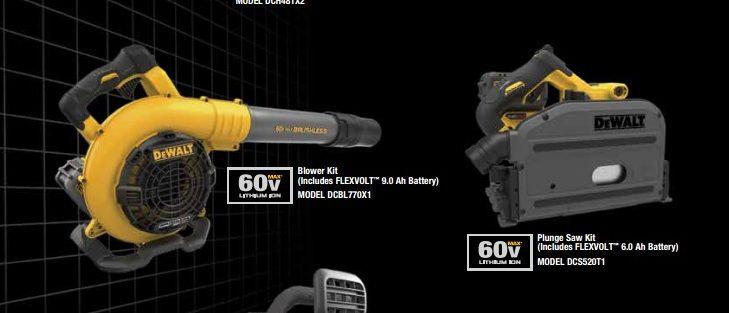 More Dewalt FLEXVOLT 60V Tools – New Track Saw – Blower – Chainsaw – Rotary Hammer – String Trimmer