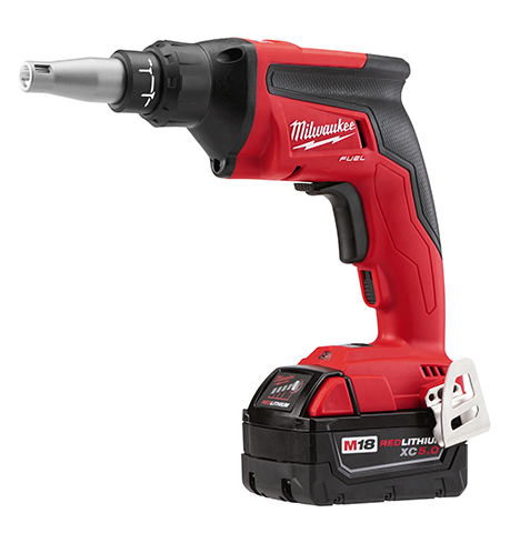 battery system milwaukee m18 cut out tool and m18 fuel drywall screw gun