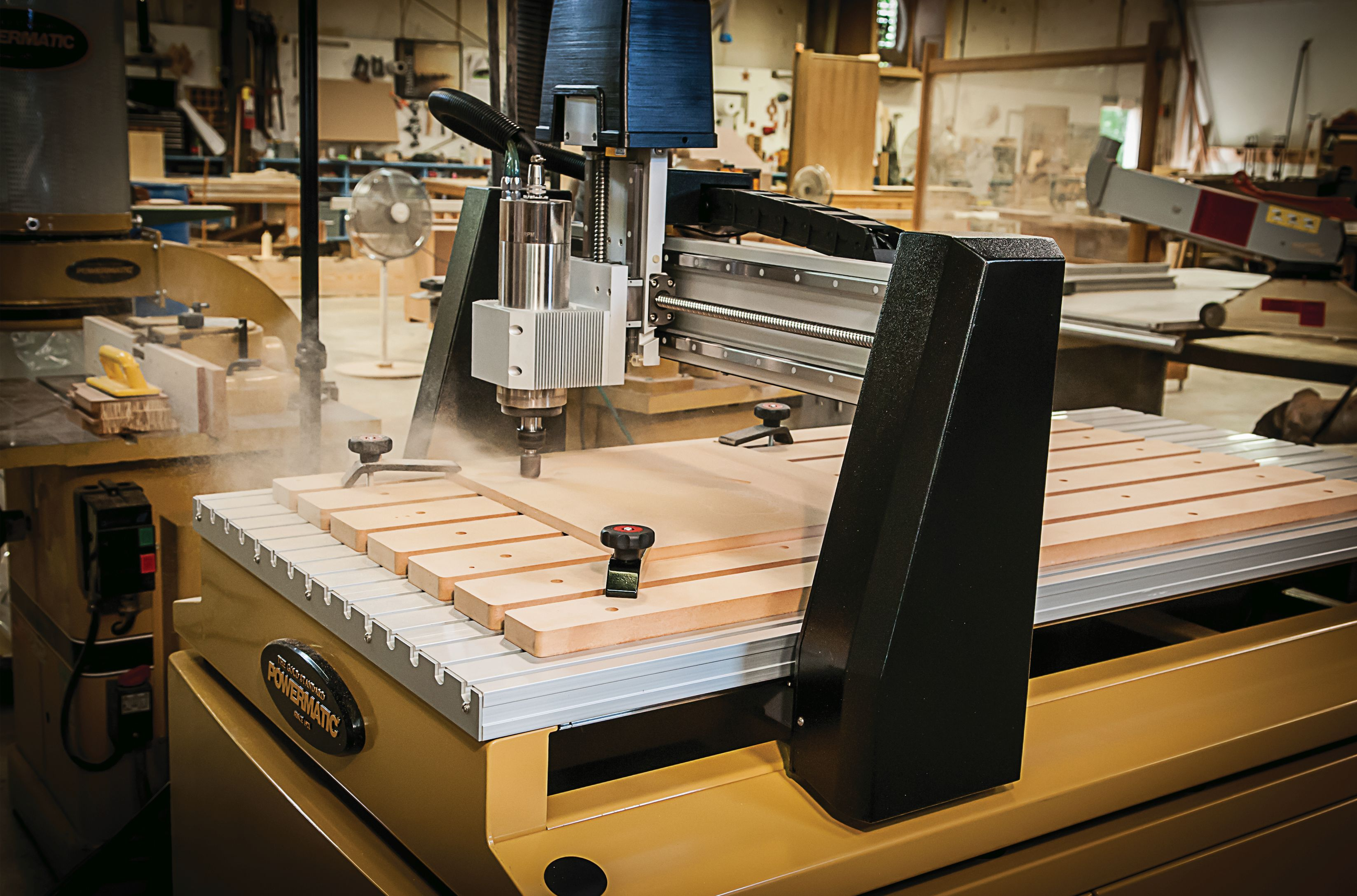 2 New Mid Size CNC Woodworking Routers from Powermatic - Tool Craze