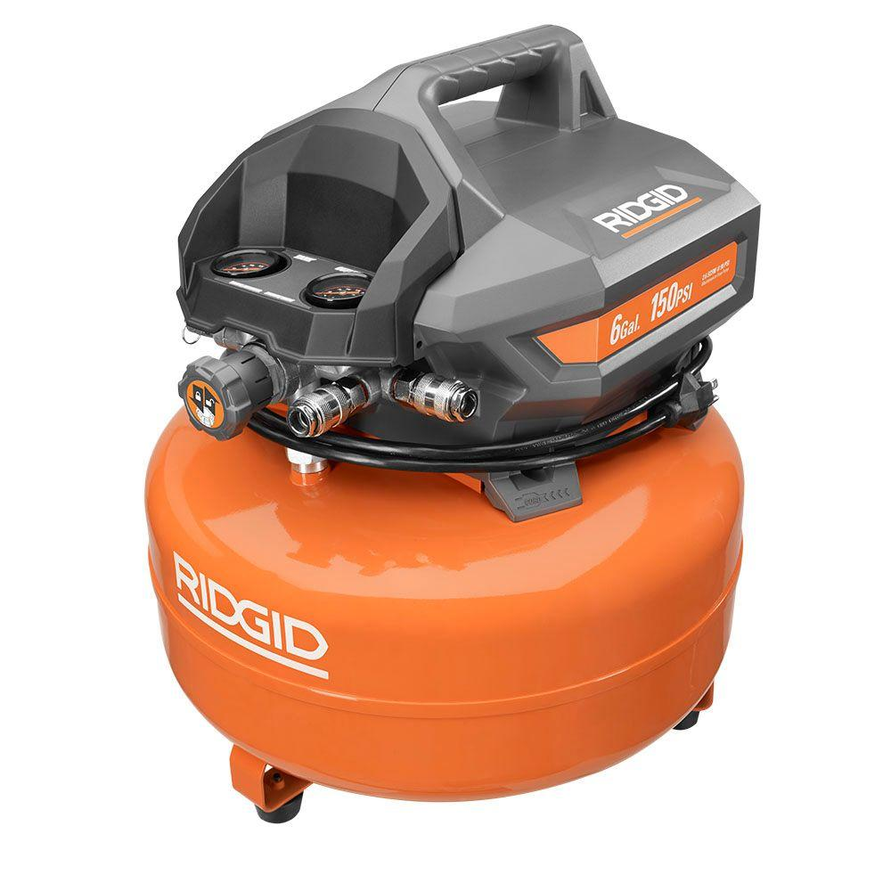 New Ridgid 6 Gallon Pancake Compressor And Framing And