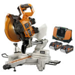 AEG / Ridgid 18V Brushless 10″ Sliding Miter Saw In Action Video