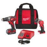 Deal – Milwaukee M18 1/2″ Compact Drill Kit W/ Free LED Worklight $99