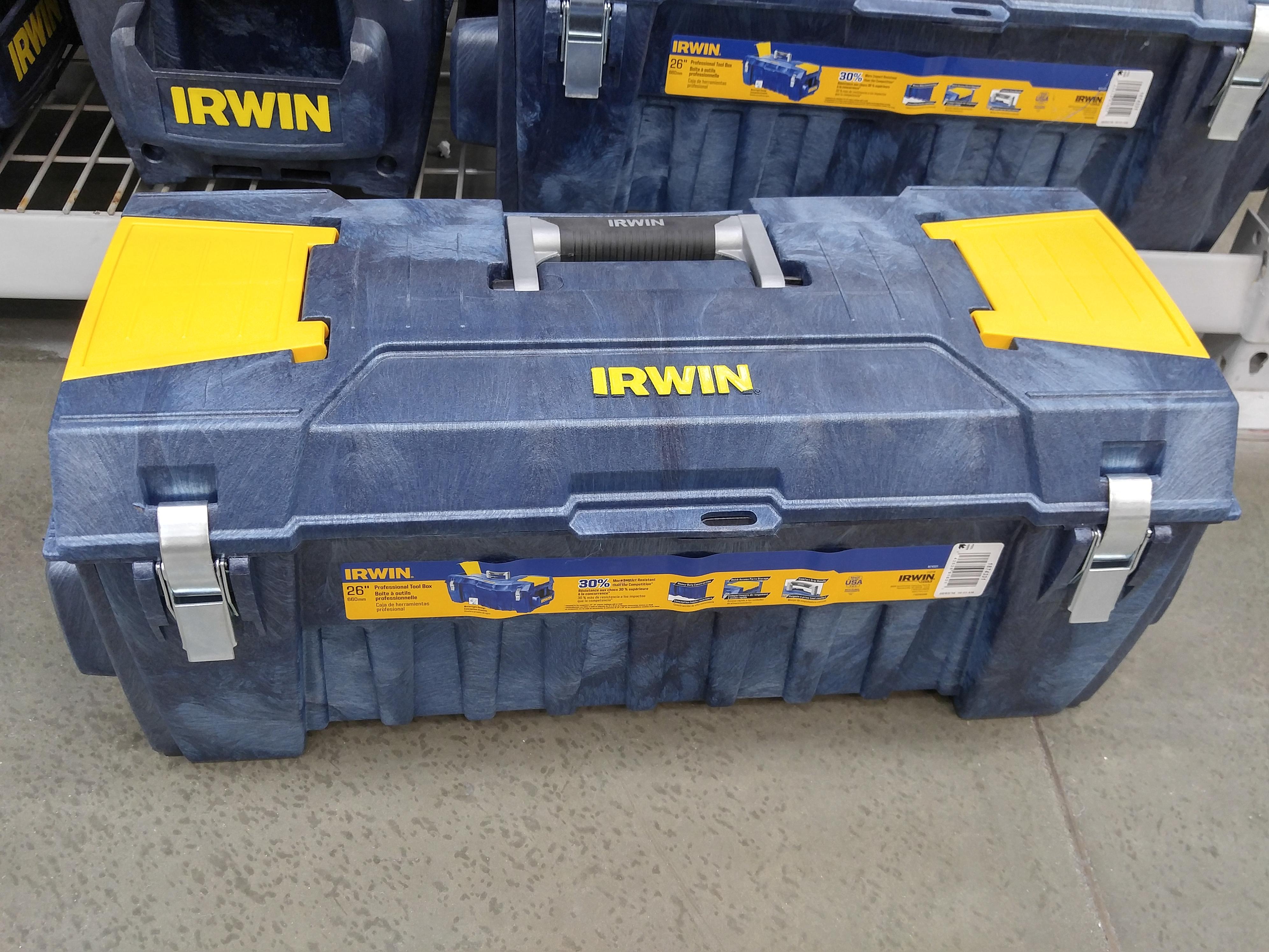 Irwin 26 Inch Structural Foam Tool Box Tool Craze