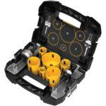 Deal – Dewalt 9 piece Electricians Hole Saw Kit $41