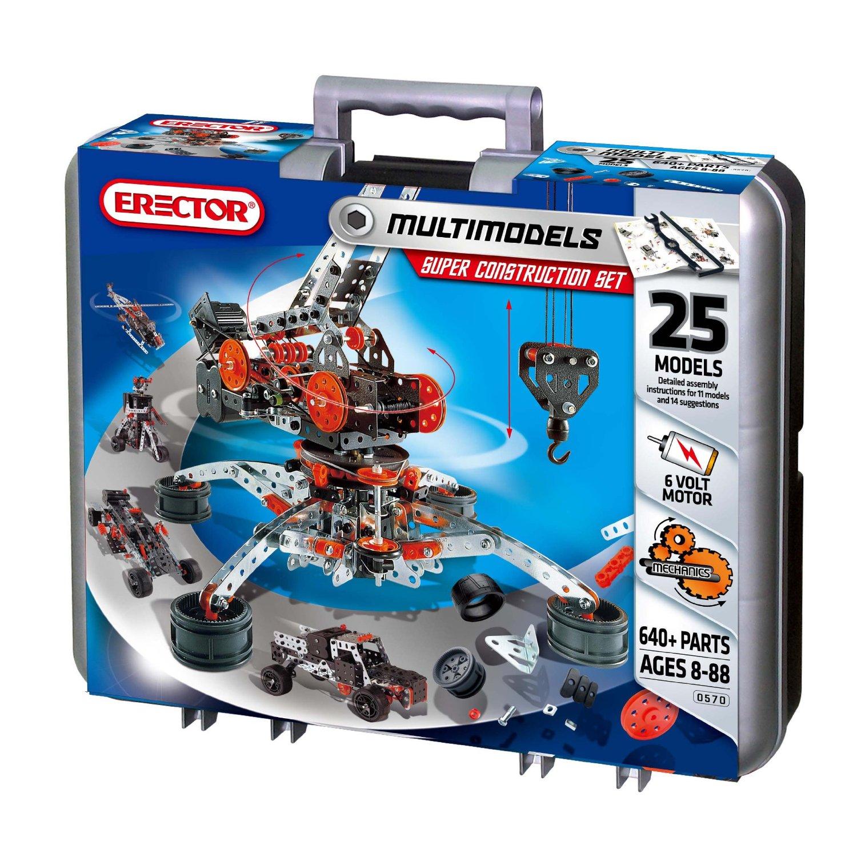 Construction Toys Sets : Meccano erector metal toy construction sets tool craze