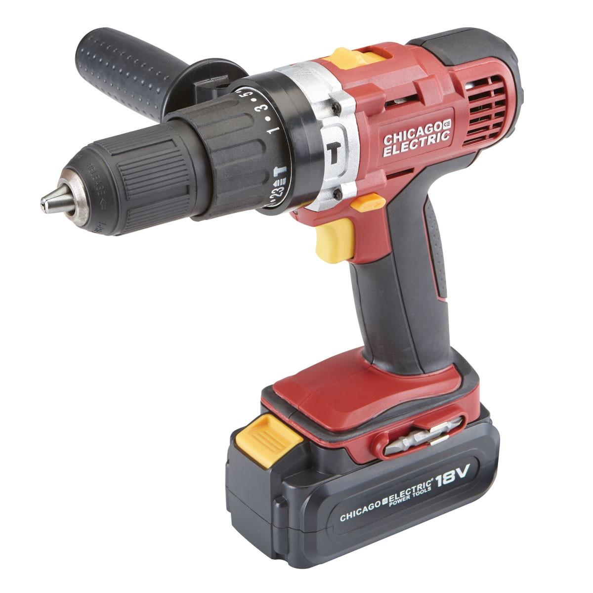 Chicago Electric 18v Drill Hammer