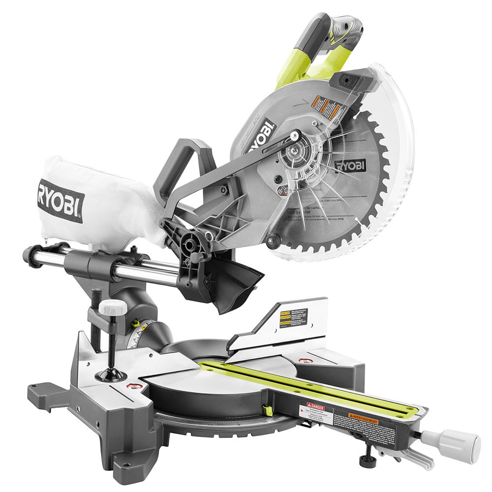 Ryobi one brushless 18v 10 sliding miter saw p3650b uses two a new cordless ryobi miter saw just popped up on the home depot website the ryobi one 18v 10 sliding miter saw p3650b keyboard keysfo Image collections