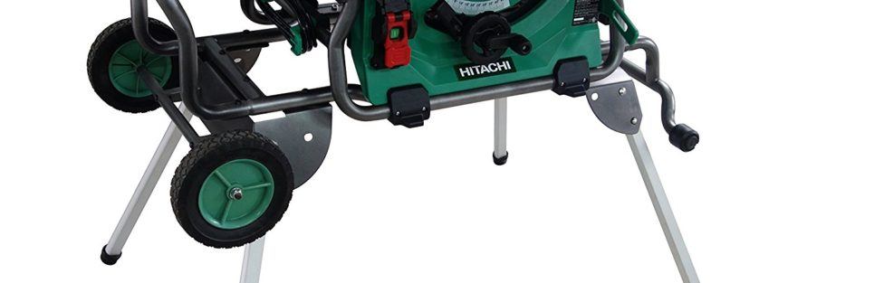 Hitachi C10RJ 10″ 15 amp Table Saw with 35″ Rip Capacity and Fold and Roll Stand