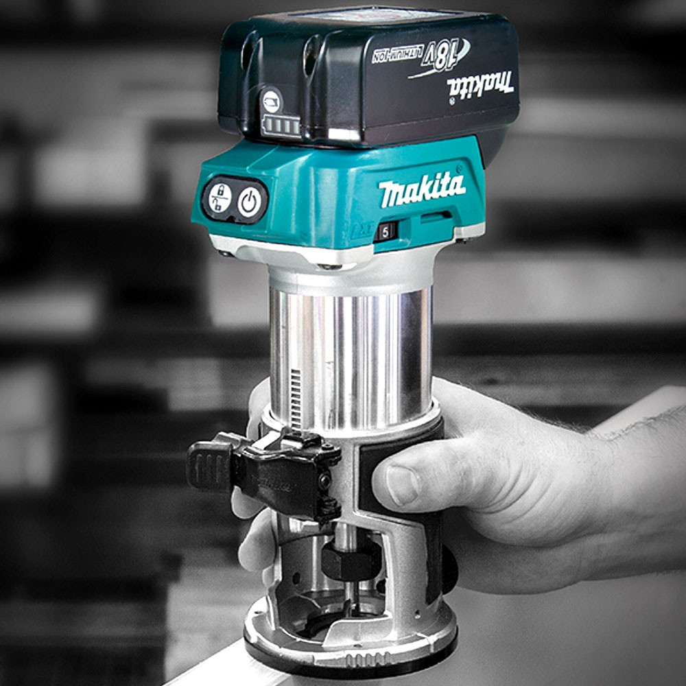 makita 18v brushless trim router drt50z tool craze. Black Bedroom Furniture Sets. Home Design Ideas