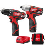 Deal – Milwaukee M12 Drill / Impact Combo Kit Milwaukee 2494-22 $119.99