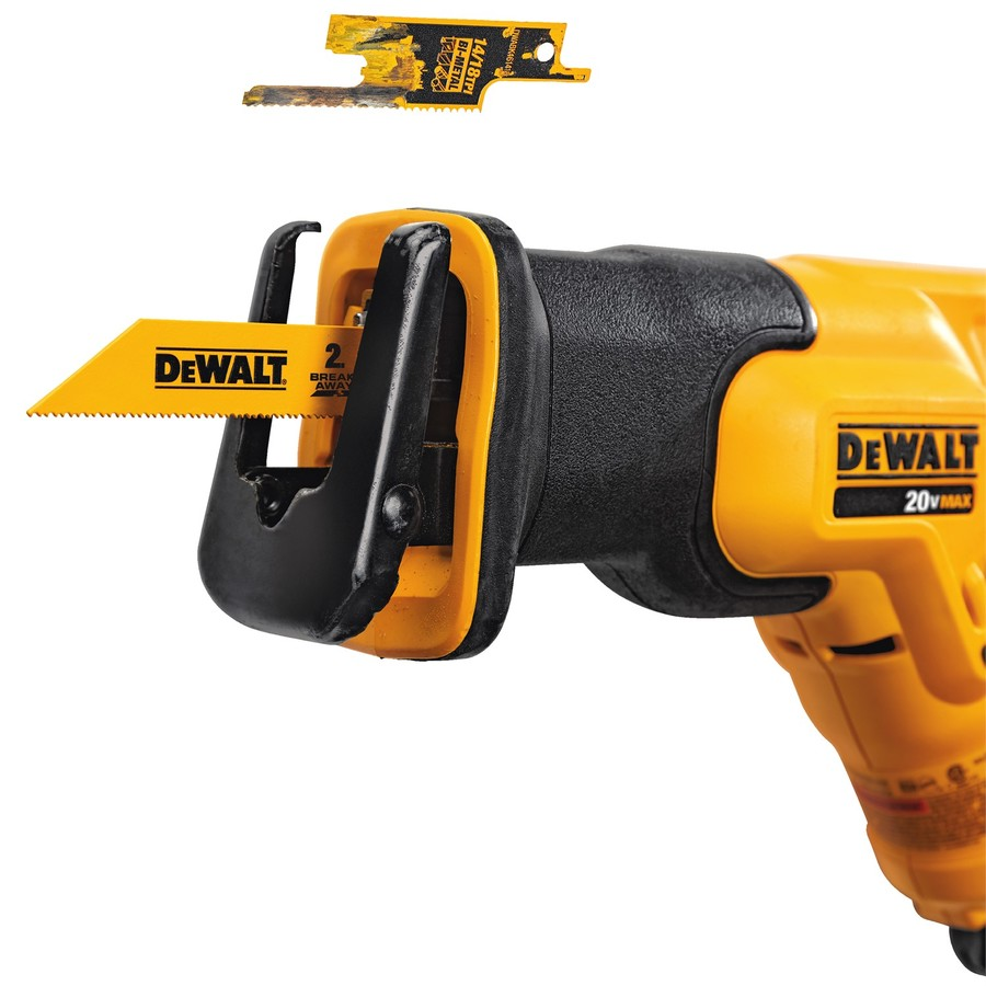 Dewalt breakaway reciprocating saw blades tool craze breakaway feature allows for full blade use without compromising the integrity of the blade greentooth Gallery