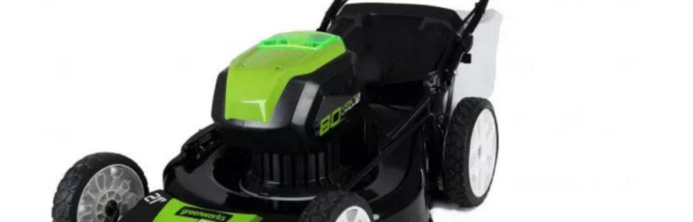 Greenworks 80V Brushless 21 inch Self Propelled Lawn Mower