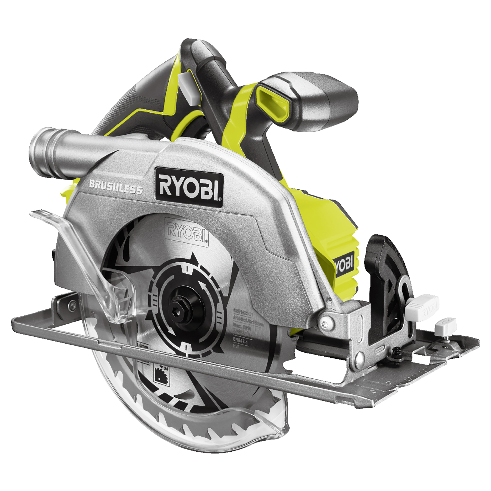 Ryobi 18v 7 14 inch brushless circular saw spotted tool craze last week we learned about a new ryobi 18v brushless angle grinder which is impressive news from ryobi they are in a relentless mission as are other greentooth