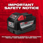 Important Safety Notice: Milwaukee Expands Warnings & Instructions for  M18 High Demand 9.0 Battery
