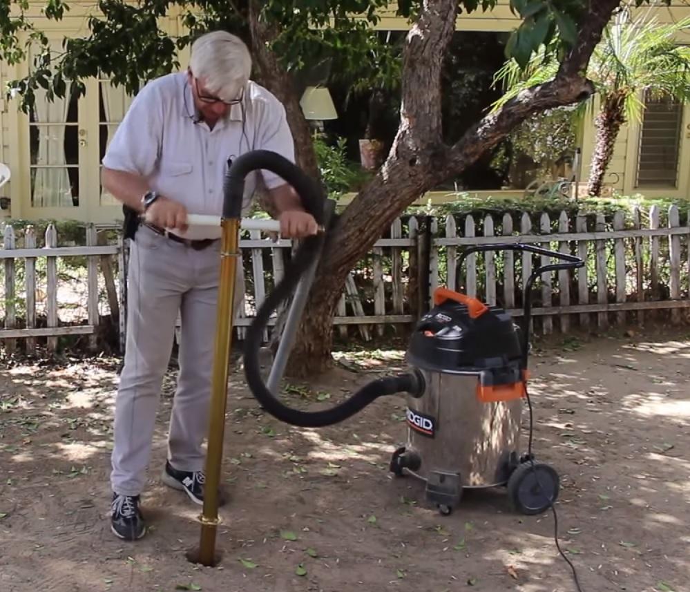 Holey Moley Fence Post Digger Manual Powered Vacuum