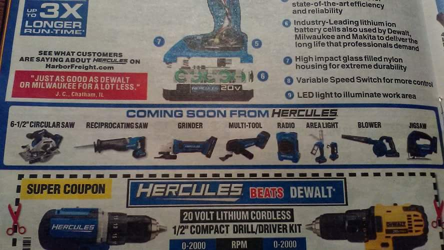 Over A Year Later And Still No New Hercules 20V Tools