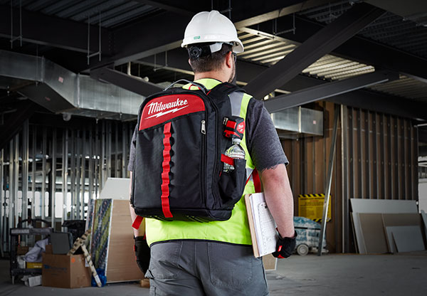 824df47e2932 The Ultimate Jobsite Backpack is designed for tradesmen who carry a wide  variety of hand tools