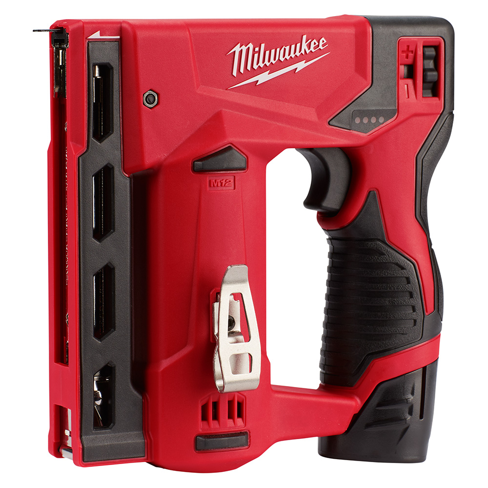 milwaukee m12 logo. here\u0027s another milwaukee tool that was previewed at this years new symposium, the m12 3/8\u2033 crown stapler 2447-21. logo