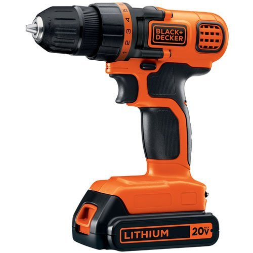 Deal- BLACK+DECKER LDX120C 20-Volt MAX Lithium-Ion Cordless Drill/Driver $30
