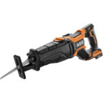 AEG 18V Fusion Brushless Reciprocating Saw has a Rafter Hook – AEG also has Bluetooth Speaker
