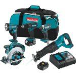 Deal- Makita 18V 5-Tool Cordless Power Tool Combo Kit $269.99