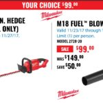 Deal – Milwaukee M18 Fuel Hedge Trimmer OR Blower For Only $99 Each BareTool