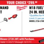 Deal – Milwaukee M18 String Trimmer OR Hedge Trimmer Kit with free Blower For Only $299