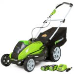 Deal- Greenworks 19-Inch 40V Cordless Lawn Mower with 2 batteries and charger $211.35