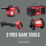 Deal- 2 Free Bare Tools with Milwaukee M18 Kit purchase
