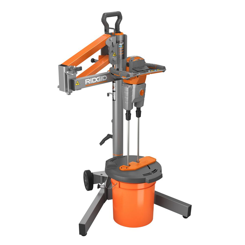 Drill Morter Mix : New corded mixers from ridgid dual paddle programmable