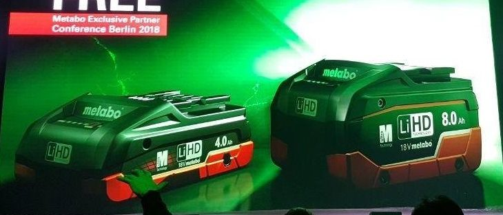 Metabo Now Has an 8.0 Ah and Compact 4.0 Ah LiHD Battery
