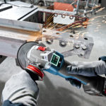 Bosch GWS18V-45PSC EC Brushless 4-1/2 Inch Angle Grinder – New Bluetooth Connected Interface with Paddle Switch