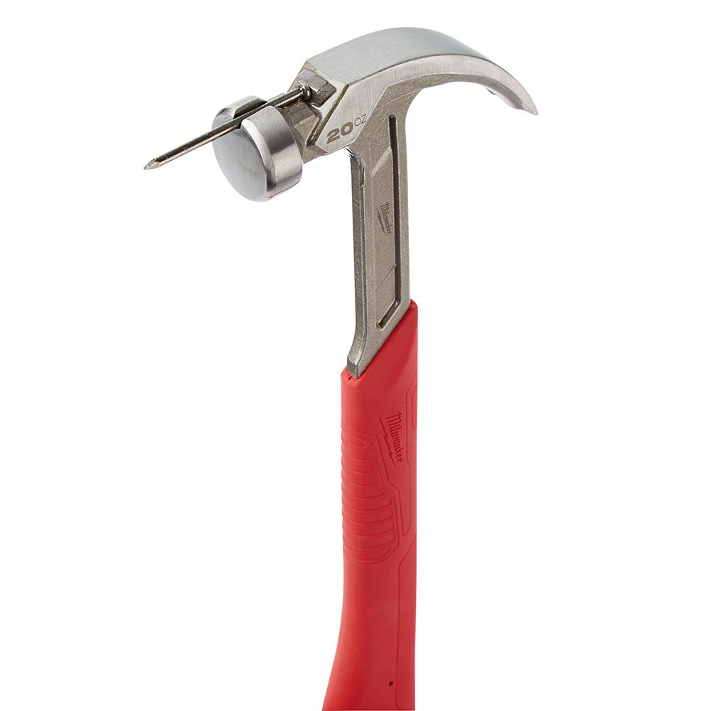 Milwaukee 20 oz Curved Claw Smooth Face Hammer 48-22-9080 - Tool Craze