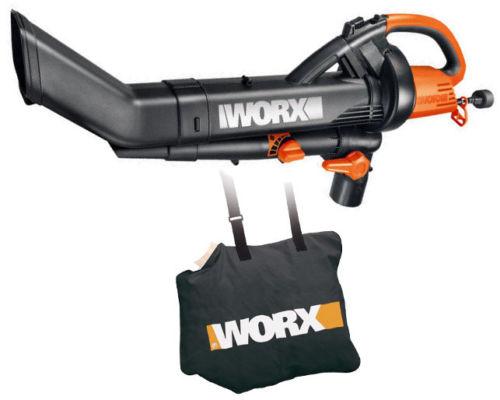 Deal Worx Wg505 Electric Trivac Leaf Blower Mulcher