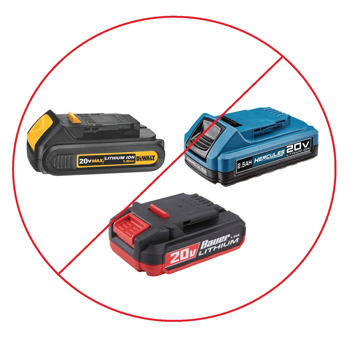 Are Dewalt and Hercules or Bauer Batteries Compatible? NOPE! It's Been Tested - Tool Craze